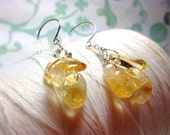 Fruits of Your Labor - citrine earrings / lemon drop earrings / cluster earrings / yellow earrings / dangle earrings /  November birthstone