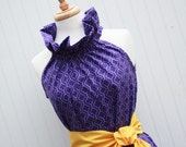 Royalty.. LSU - ECU ...Women's Purple Dress with Removable Sash