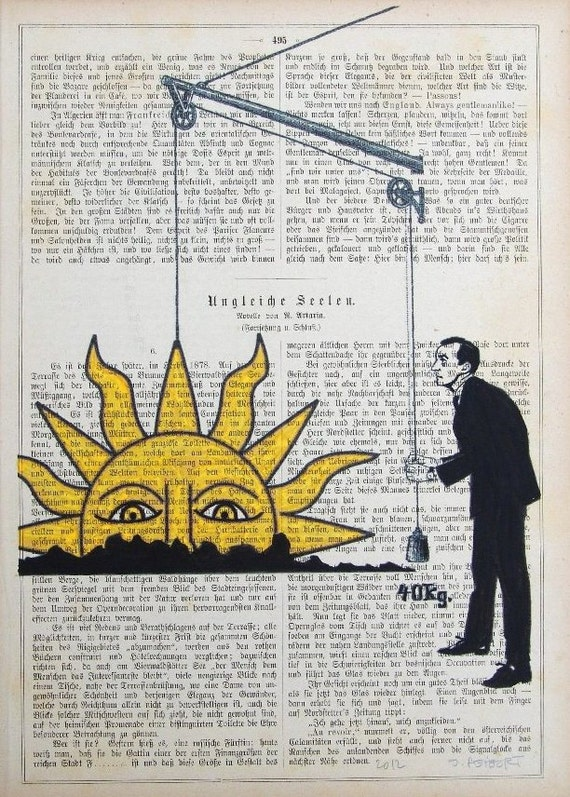RISING SUN Giclee Print Mixed Media Illustration Painting