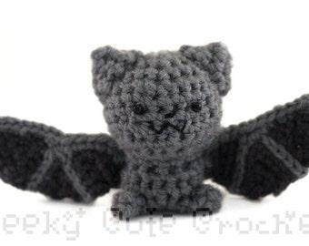 Gray Bat Amigurumi crocheted plush toy cute amigurumis animal