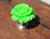 Petite Rose Drawer knobs in Green MORE COLORS Available (RFK07)