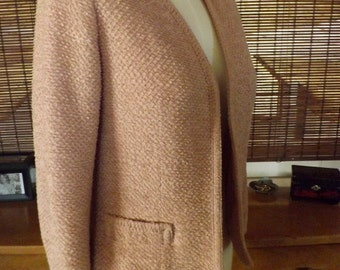 Vintage 50s Dusty Rose Boucle Box coat Blazer M