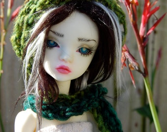 Wood Elf Hat and Scarf for MSD dolls