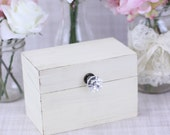Shabby Chic Recipe Box With Glass Knob Custom Wedding Shower Decor (Item Number MHD20094)