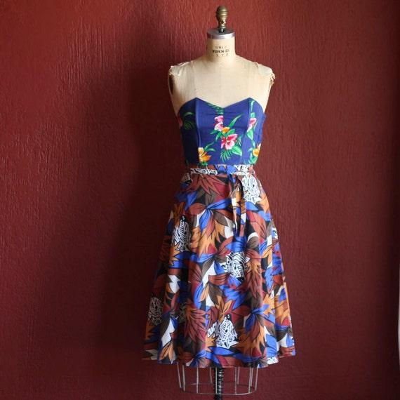 Vintage 1980s Safari Zebra Print Circle Skirt -  Size Medium - Large