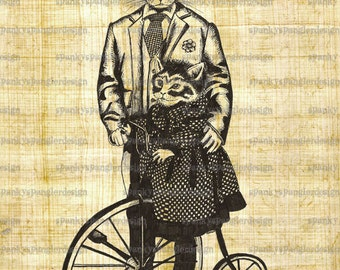 Steampunk Digital Image Download - Victorian cats - Digital Download for Iron on Transfer, Papercrafts, T-Shirts, Tote Bags, Cushions