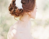 Floral Bridal Hair pins set beaded with Lace and Pearls - Style 203