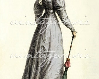 ACKERMANN Regency Fashion Plate Print COLLAGE SHEET 1825 Print 3 Digital Download Jane Austen