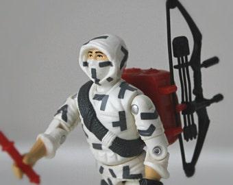 1980's GI Joe Action Figure, Storm Shadow - Cobra Ninja Warrior Complete with All Original Accessories - 80's GI Joe Toy, Collectible