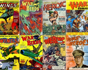 HEROIC WAR Stories Comics DVD (vol 3) Golden Age - Fiction House Heroes Wings Dell