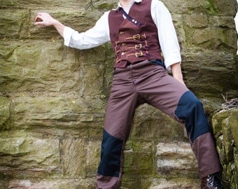 Rugged Steampunk Trousers, Designed for Adventure- The Airshipman's Jeans
