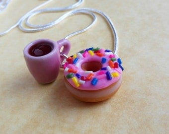coffee and a doughnut necklace