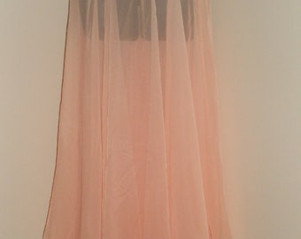 Egyptian Fusion Bellydance Peach Chiffon Professional 7 Yard Circle Skirt- 038
