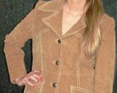 Vintage  1960s -1970s Suede Jacket  MOD  Size M