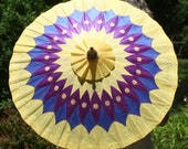 Hand painted yellow Parasol