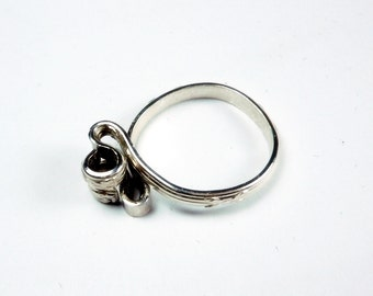 Sterling Silver Barbed Wire Adjustable RIng