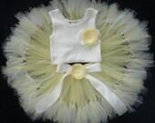 Baby Girls Birthday Tutu Dress Outfit, My Sweet Little Chickadee Tutu Dress