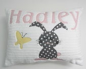 A Sweet Personalized Bunny Pillow