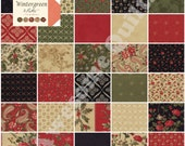 Layer Cake -  Wintergreen  -  MODA quilting fabric squares / blocks by 3 Sisters