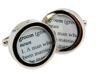 Definition of GROOM - Wedding - Cuff links by Gwen DELICIOUS Jewelry Design