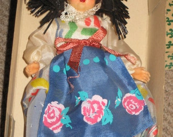 Vintage Boxed 50's Ethnic Doll Made in Italy by Articolo