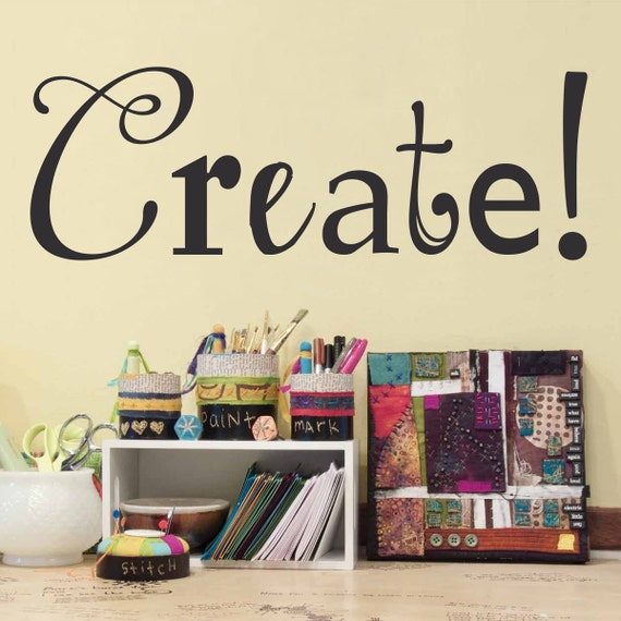 Wall Art For Craft Room : Create wall decal craft room or art by stephenedwardgraphic