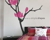 Magnolia Flower Branch Decal