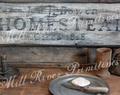 Primitive Aged HOMESTEAD Circa Wood Sign Personalized