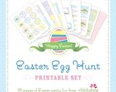 INSTANT DOWNLOAD Easter Egg Hunt DIY printable set - 35 pages of sweet Easter printables