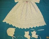 Foliage Lace Christening Gown PDF Pattern