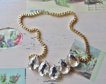 Statement Necklace, Big Chunky Sparkly Necklace, Statement Jewels, Perfect Summer Necklace, Chunky Chain
