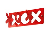 XOX - hugs & kisses - Red coat hanger with 3 hooks. SALE
