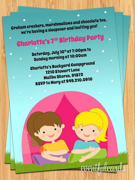 Campout Birthday Party Invitations as beautiful invitation ideas