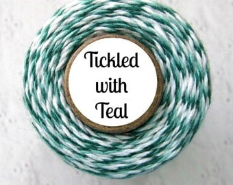 Teal and White Bakers Twine by Trendy Twine - Tickled with Teal
