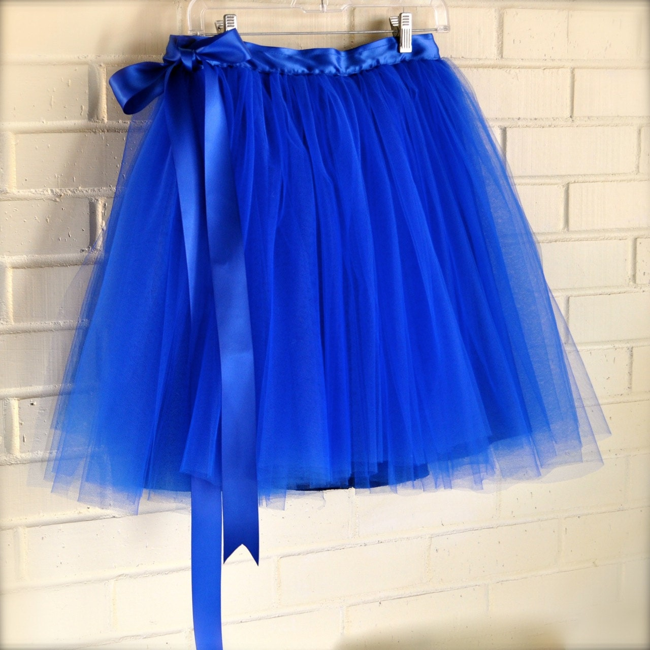 saleblue tulle skirt for lined in by tutuschicoriginals
