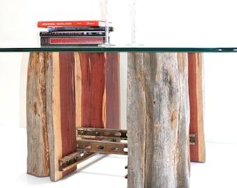 Tree Stump Coffeetable Base Reclaimed Wood Recycled Metal