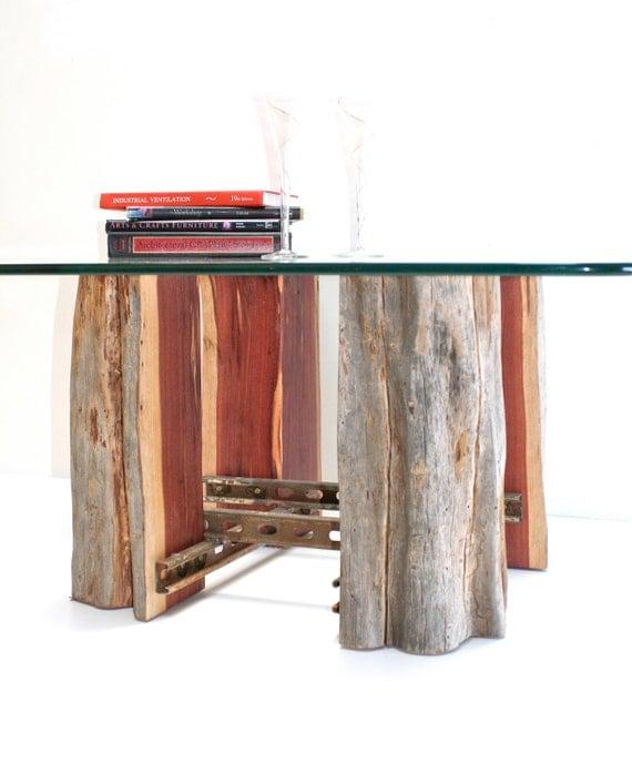 Reclaimed Wood Stump Coffee Table: Tree Stump Coffeetable Base Reclaimed Wood By Realwoodworks1