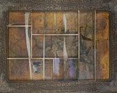 I Was Born To Do This:  Assemblage Art wood neutral original wall art by Leslee Lukosh of Foundturtle in Portland, Oregon