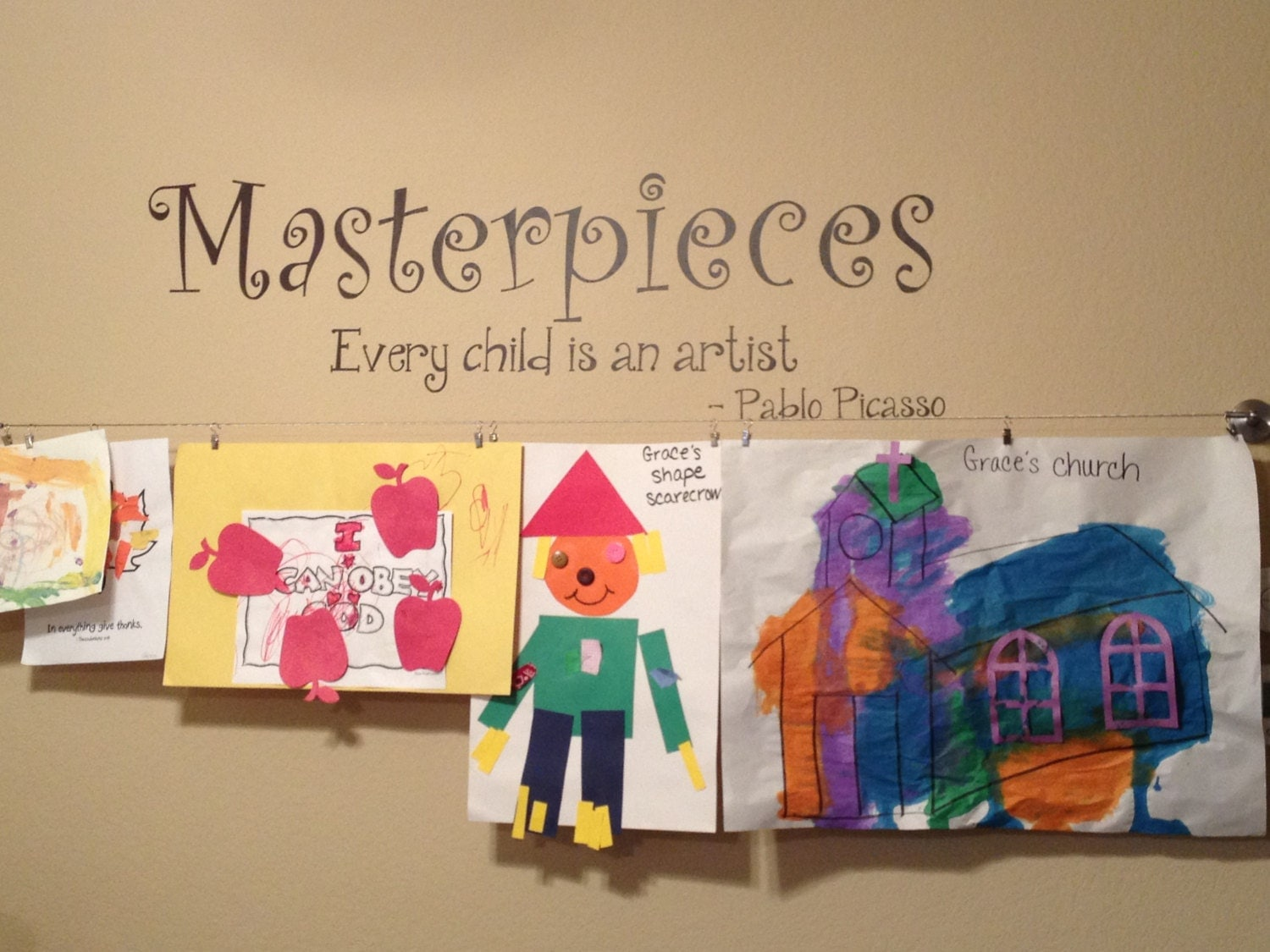 masterpieces decal every child is an artist masterpieces