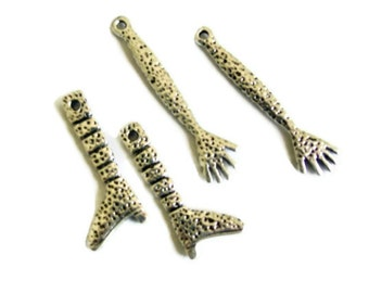 Art Doll Arms and Legs Antiqued Silver 4 piece set