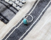 Native Turquoise Ring with pyrite matrix