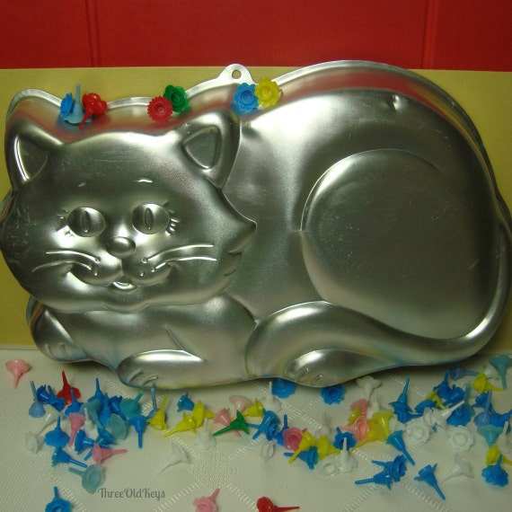 Kitty Cat Cake Pan 1987 Wilton Mold 2105 1009 Vintage