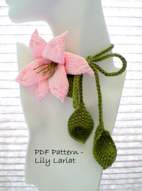 Knit Jewelry Flower Pattern