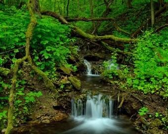 Emerald Falls - 12x18 Fine Art Landscape Photo Print