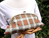 HALF PRICE African print Cotton Maxi Clutch