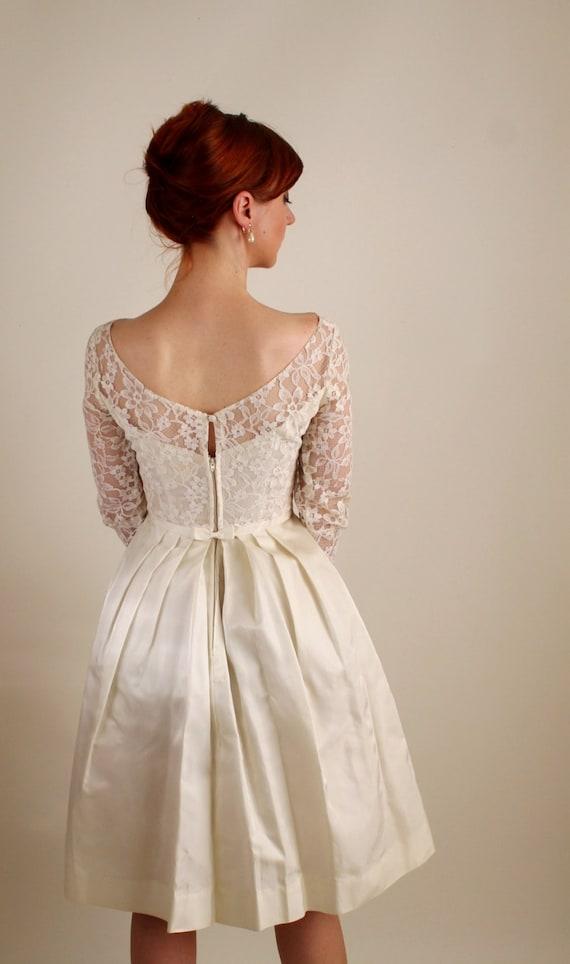 S cream lace short wedding dress mad men fashion summer wedding