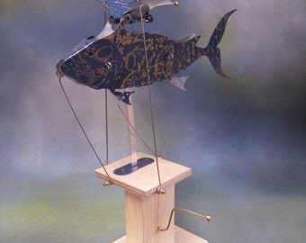 Blue Flying Fish Automaton