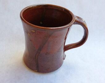 Pottery Coffee Mug Red 8 oz. Handmade by Daisy Friesen