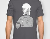 David Bowie Grey Mens T-shirt by Emilythepemily