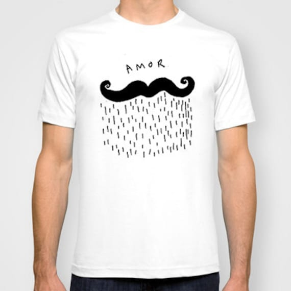 Hand Printed Amor Mens T-shirt printed by Emilythepemily.